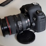 5D Mark III with standard 24-105 kit lens. I use this as my stills camera
